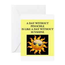 pinochle Greeting Card