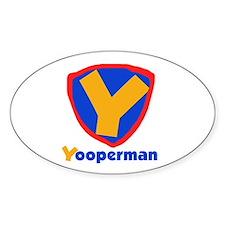 YooperMan Oval Decal