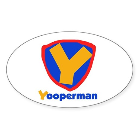 YooperMan Oval Sticker