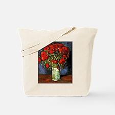 Vase with Red Poppies by Van Gogh Tote Bag