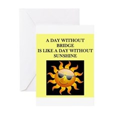 duplicate bridge Greeting Card