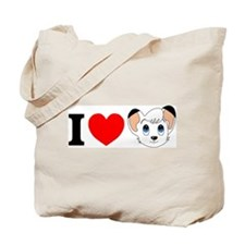 Cute White lion Tote Bag