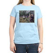 Across a Lonely Field Women's Pink T-Shirt