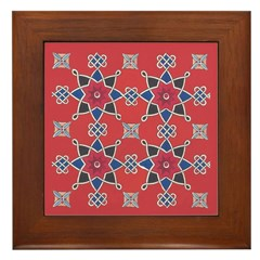 Red Beauty Framed Tile