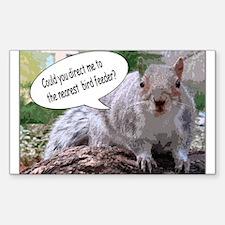 Squirrel Wisdom Rectangle Decal