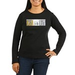 "WTD: ""Mind Over Matter"" Women's Long Sleeve Dark T"