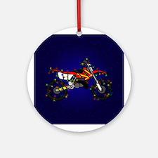 Christmas Lights Red Dirt Bike Christmas Ornament