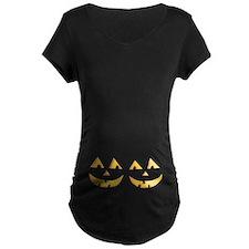 Twin Jack O Lantern Maternity T-Shirt