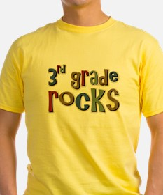 3rd Grade Rocks Third School T-Shirt