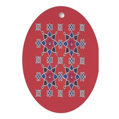 Red Beauty Oval Ornament