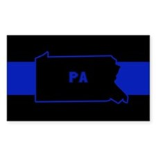 Pennsylvania Thin Blue Line Decal