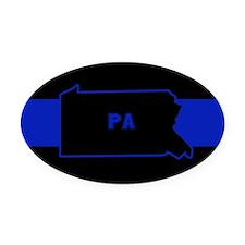 Pennsylvania Thin Blue Line Oval Car Magnet