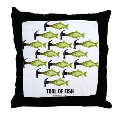 Tool of Fish Throw Pillow