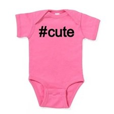 Hashtag # Cute Baby Bodysuit