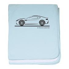 Aston Martin Vantage S baby blanket