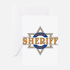 Sheriff Buford T Justice Door Emblem Greeting Card