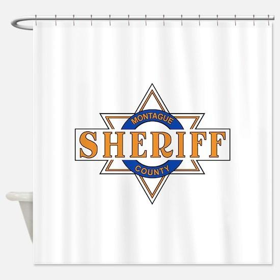 Sheriff Buford T Justice Door Emblem Shower Curtai