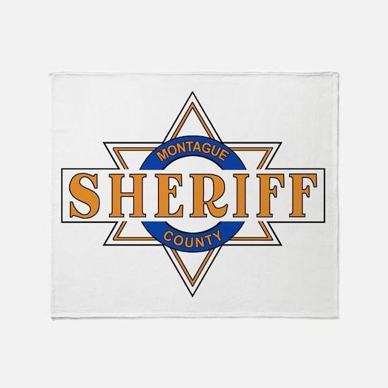 Sheriff Buford T Justice Door Emblem Throw Blanket