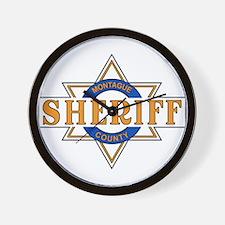 Sheriff Buford T Justice Door Emblem Wall Clock