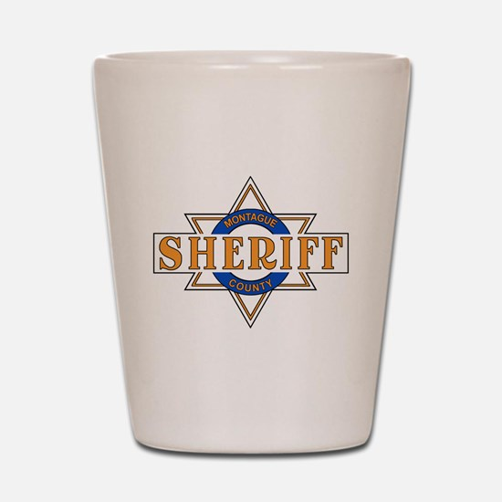 Sheriff Buford T Justice Door Emblem Shot Glass