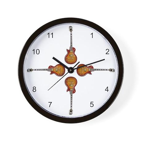 Les Paul Numbered Wall Clock