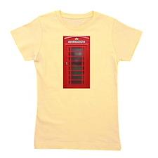 British Phone Booth Girl's Tee