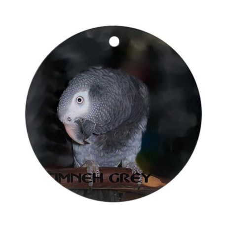Timneh African Grey Round Ornament