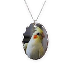 cockatiel Necklace Oval Charm