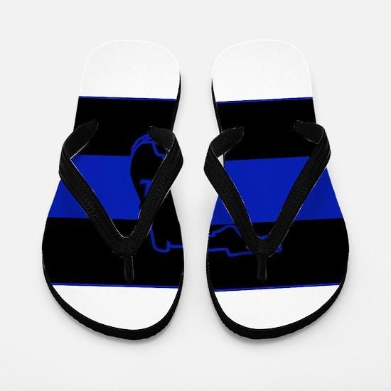 Thin Blue Line Florida Flip Flops