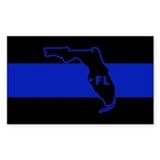 Thin Blue Line Florida Decal