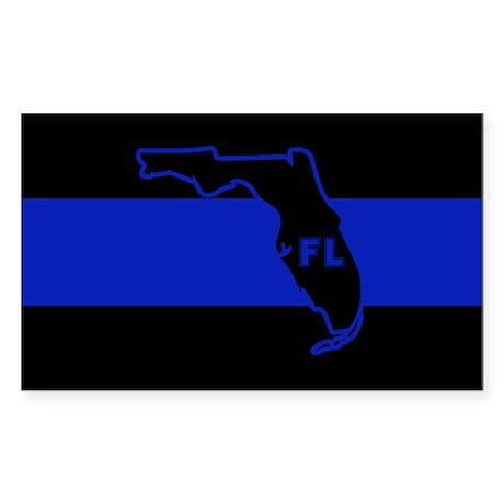 Thin Blue Line Florida Sticker