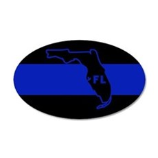 Thin Blue Line Florida Wall Decal