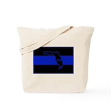 Thin Blue Line Florida Tote Bag