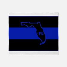 Thin Blue Line Florida Throw Blanket