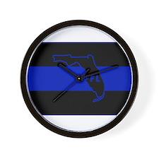 Thin Blue Line Florida Wall Clock