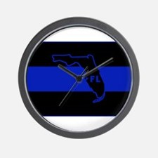 Thin Blue Line Florida Wall Clock
