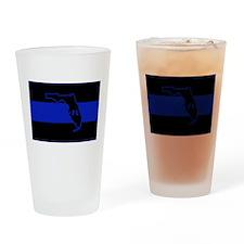 Thin Blue Line Florida Drinking Glass