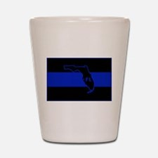 Thin Blue Line Florida Shot Glass