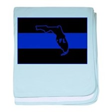 Thin Blue Line Florida baby blanket