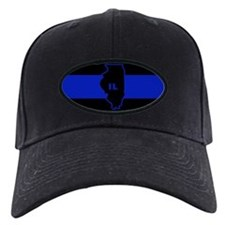 Thin Blue Line Illinois Baseball Hat