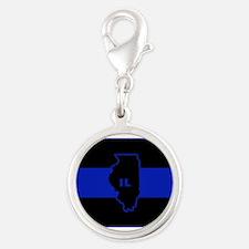 Thin Blue Line Illinois Charms