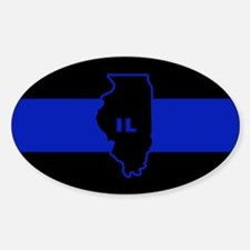 Thin Blue Line Illinois Decal