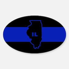 Thin Blue Line Illinois Decal