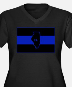 Thin Blue Line Illinois Plus Size T-Shirt