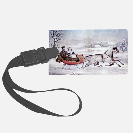 The Road Winter Luggage Tag