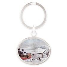 The Road Winter Oval Keychain