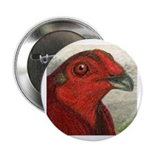 """Red Gamecock 2.25"""" Button"""