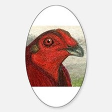 Red Gamecock Sticker (Oval)