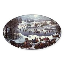 Central Park in Winter Decal