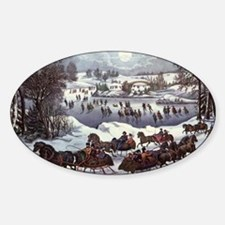 Central Park in Winter Sticker (Oval)